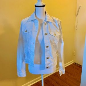 Michael Michael Kors white Jean Jacket NWT